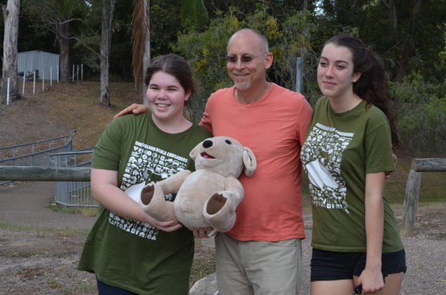 Dave Strussman and tedEbare with 2 young Koala Crusaders!